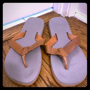 Pair of Havaianas Special flip flops brown